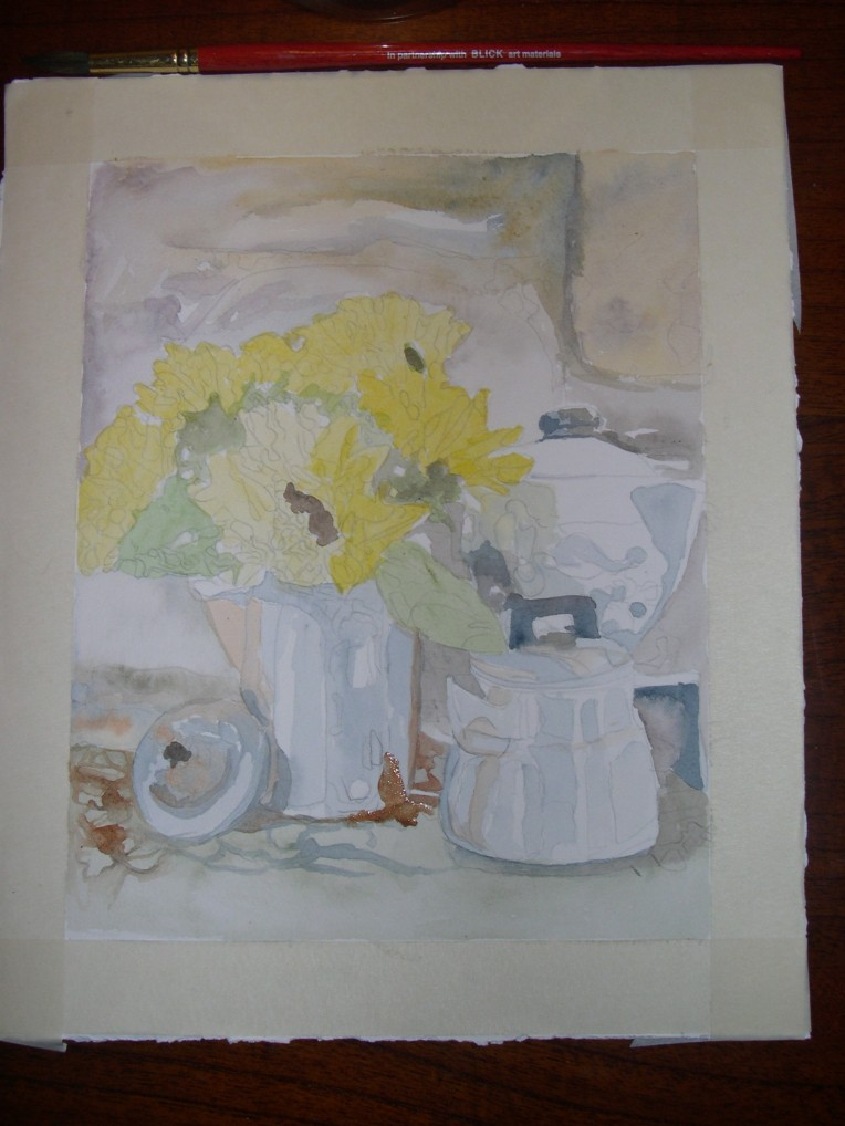 Sun Flowers and Tea