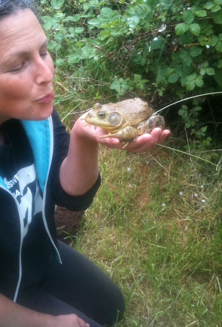 I kissed a frog and I liked it.
